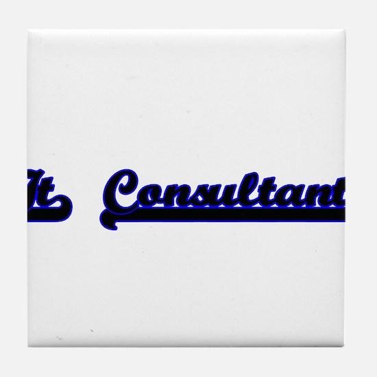 It Consultant Classic Job Design Tile Coaster