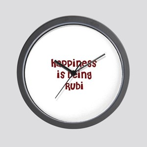 happiness is being Rubi Wall Clock