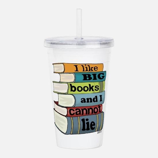 I Like Big Books Acrylic Double-wall Tumbler