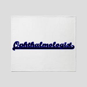Ophthalmologist Classic Job Design Throw Blanket