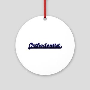 Orthodontist Classic Job Design Ornament (Round)