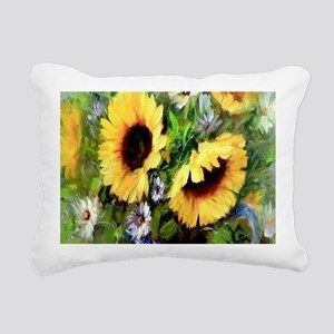 Sunflower Rectangular Canvas Pillow