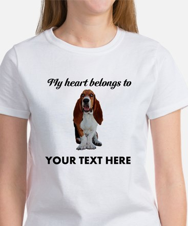 Personalized Basset Hound Women's T-Shirt