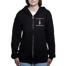 Personalized Basset Hound Women's Zip Hoodie