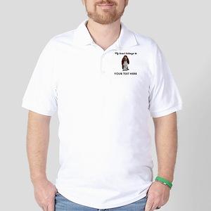Personalized Basset Hound Golf Shirt