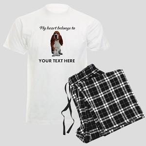 Personalized Basset Hound Men's Light Pajamas