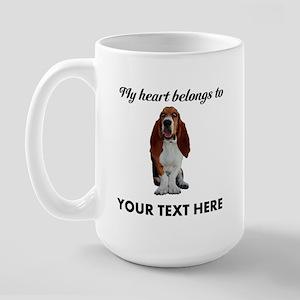 Personalized Basset Hound Large Mug