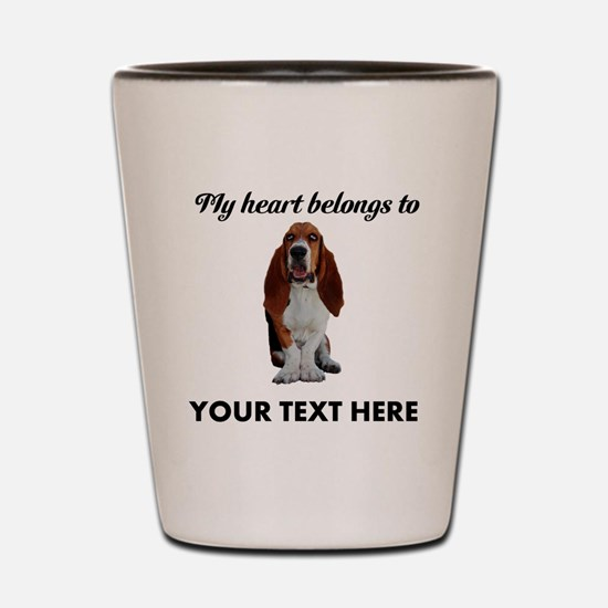 Personalized Basset Hound Shot Glass