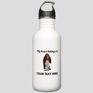 Personalized Basset Ho Stainless Water Bottle 1.0L