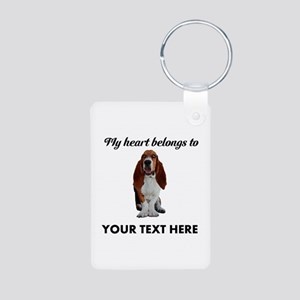 Personalized Basset Hound Aluminum Photo Keychain