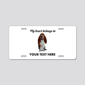 Personalized Basset Hound Aluminum License Plate