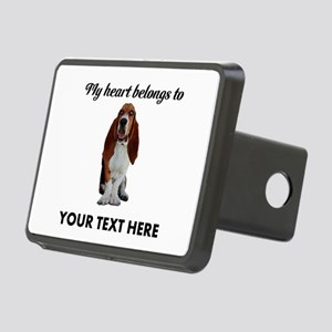 Personalized Basset Hound Rectangular Hitch Cover