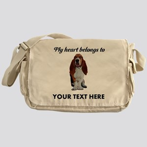 Personalized Basset Hound Messenger Bag