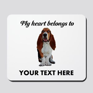 Personalized Basset Hound Mousepad