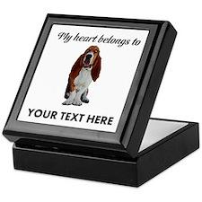 Personalized Basset Hound Keepsake Box