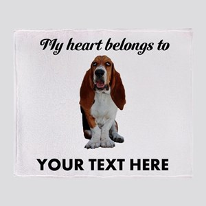 Personalized Basset Hound Throw Blanket