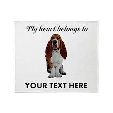 Personalized Basset Hound Throw Blanket