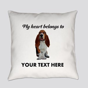 Personalized Basset Hound Everyday Pillow