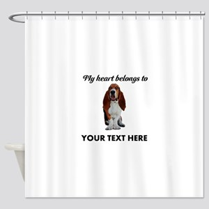 Personalized Basset Hound Shower Curtain