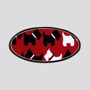 Scottish Terrier Scottie Dog Pattern Patch