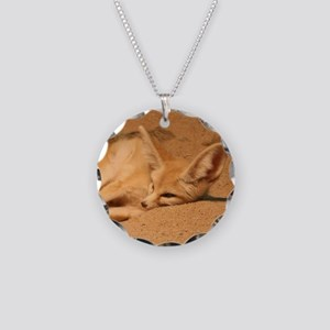 Fennec Fox Necklace Circle Charm