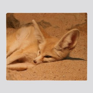 Fennec Fox Throw Blanket