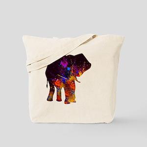 Splash Elephant Painting Tote Bag