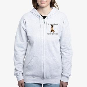 Personalized Boxer Dog Women's Zip Hoodie