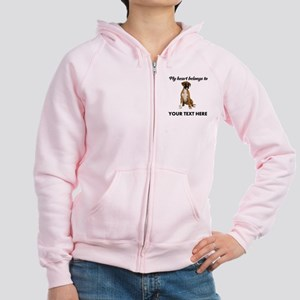 Personalized Boxer Dog Women's Zip Hoodie