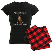 Personalized Boxer Dog Women's Dark Pajamas