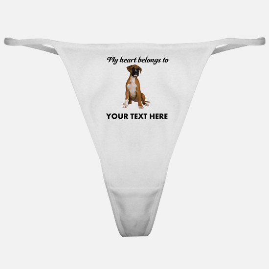 Personalized Boxer Dog Classic Thong