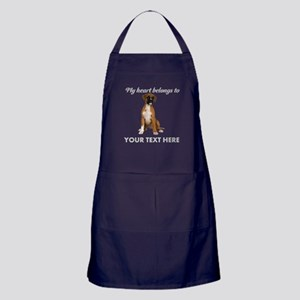 Personalized Boxer Dog Apron (dark)
