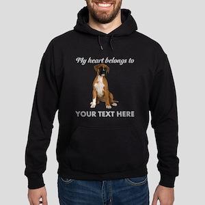 Personalized Boxer Dog Hoodie (dark)