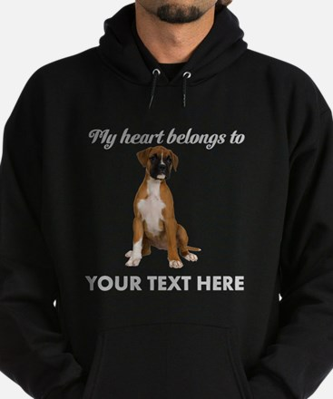 Personalized Boxer Dog Hoodie (dark)