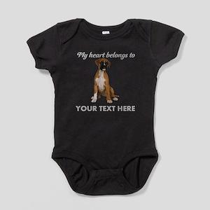 Personalized Boxer Dog Baby Bodysuit