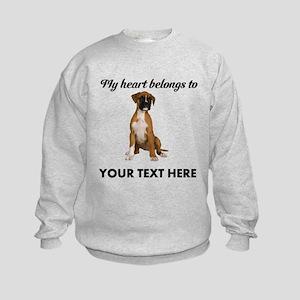 Personalized Boxer Dog Kids Sweatshirt