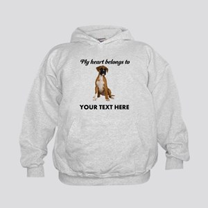 Personalized Boxer Dog Kids Hoodie