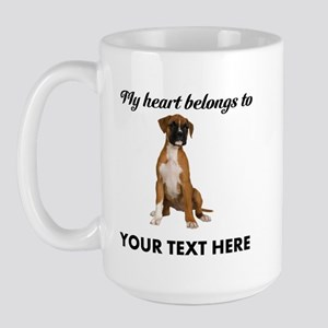 Personalized Boxer Dog Large Mug
