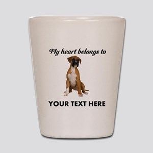 Personalized Boxer Dog Shot Glass