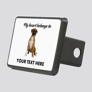 Personalized Boxer Dog Rectangular Hitch Cover