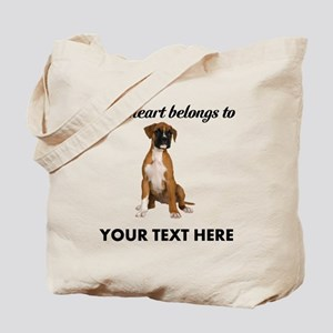 Personalized Boxer Dog Tote Bag