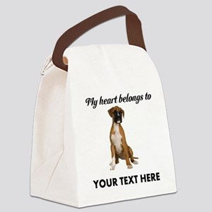 Personalized Boxer Dog Canvas Lunch Bag