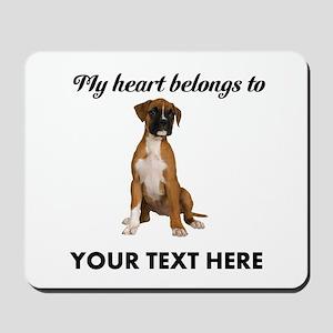Personalized Boxer Dog Mousepad