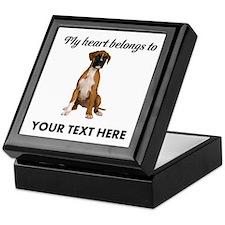 Personalized Boxer Dog Keepsake Box
