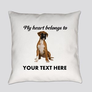 Personalized Boxer Dog Everyday Pillow