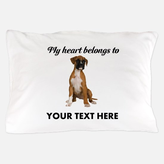 Personalized Boxer Dog Pillow Case
