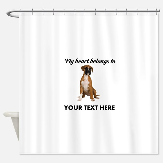 Personalized Boxer Dog Shower Curtain