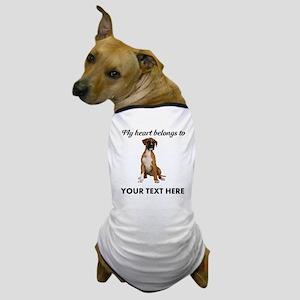 Personalized Boxer Dog Dog T-Shirt