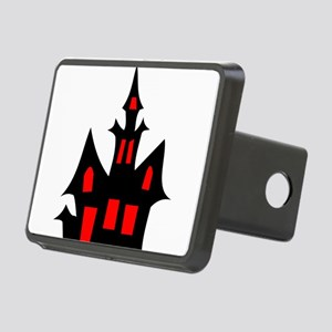 Black and Red Haunted Hous Rectangular Hitch Cover