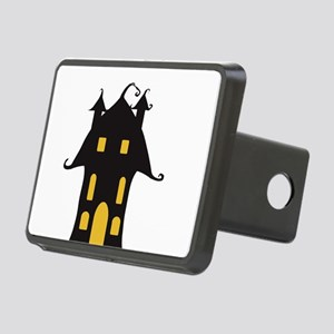 Yellow and Black Haunted H Rectangular Hitch Cover